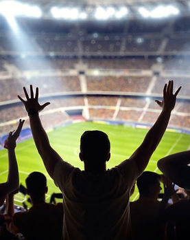sports-fans-silhouetted-against-stadium-