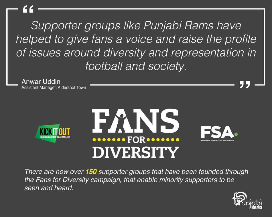 Fans For Diversity campaign helps give over 150 supporter groups a voice