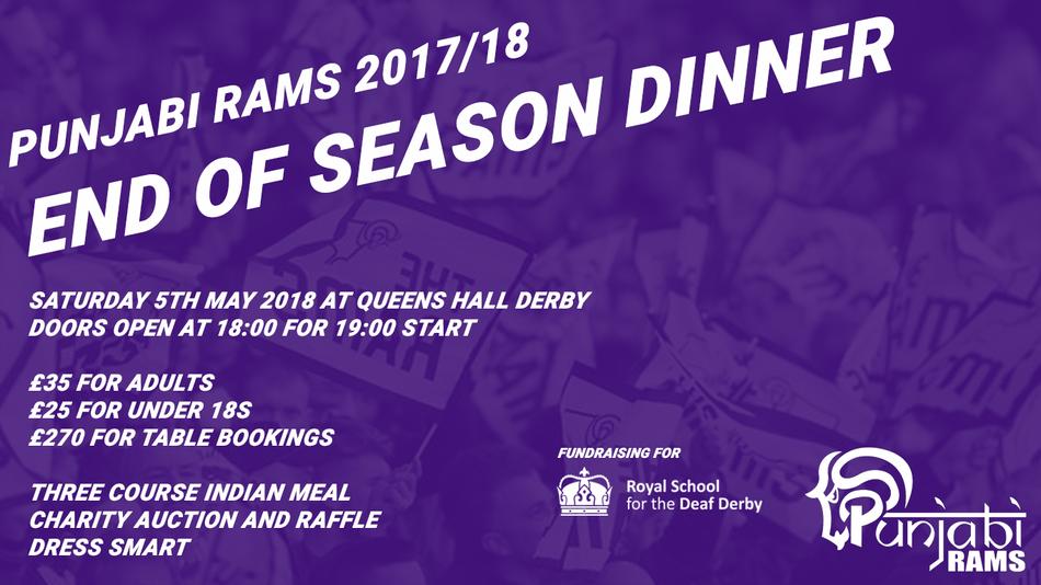 End of Season Dinner 2017/18