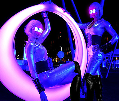 Chrome Greeters & LED Ring of Light