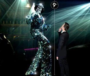 Man in the Mirror Stilt Walker