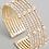 Thumbnail: Mia Multi Strand Cuff - Gold