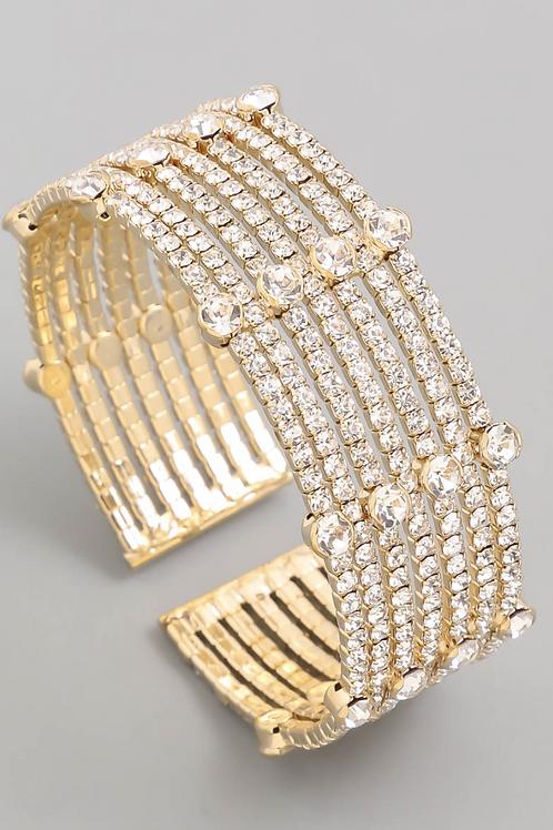 Mia Multi Strand Cuff - Gold
