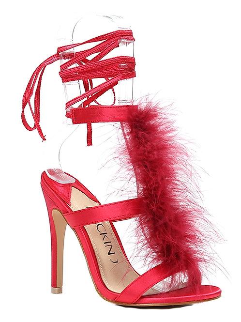 Boa Feather Heels