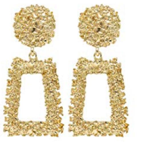 Jennifer Statement Earrings - Gold