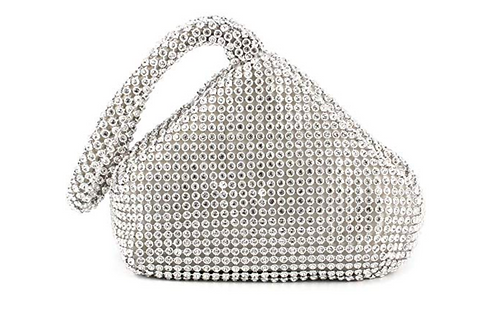 Silver Triangle Clutch