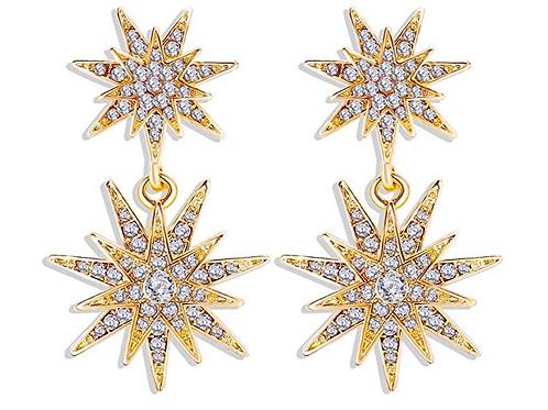 Starry Night Earrings - Gold