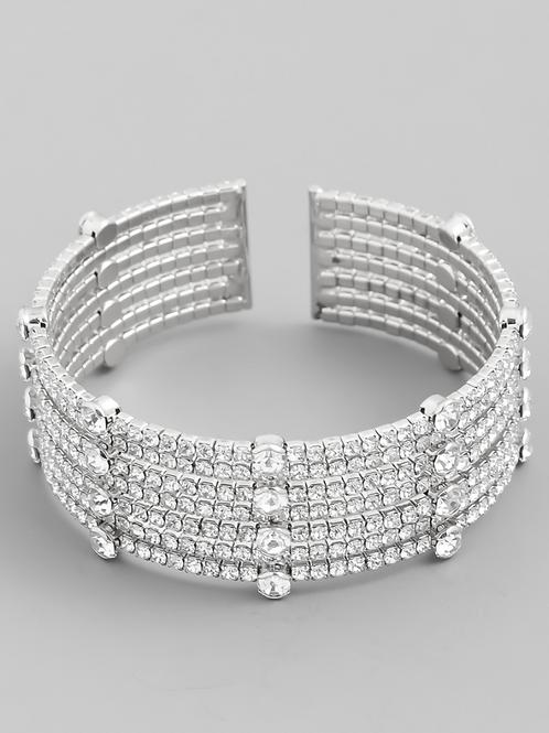 Mia Multi Strand Cuff - Silver