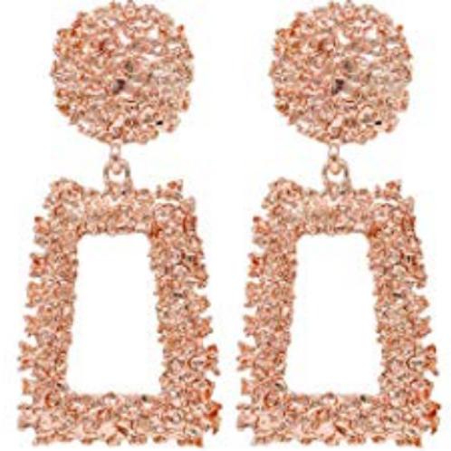 Jennifer Statement Earrings - Rose Gold