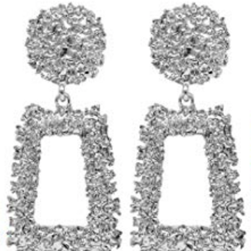 Jennifer Statement Earrings - Silver