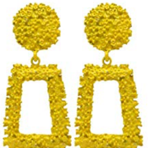 Jennifer Statement Earrings - Yellow