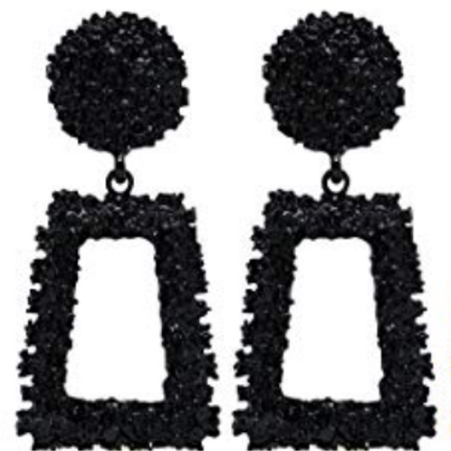 Jennifer Statement Earrings - Black