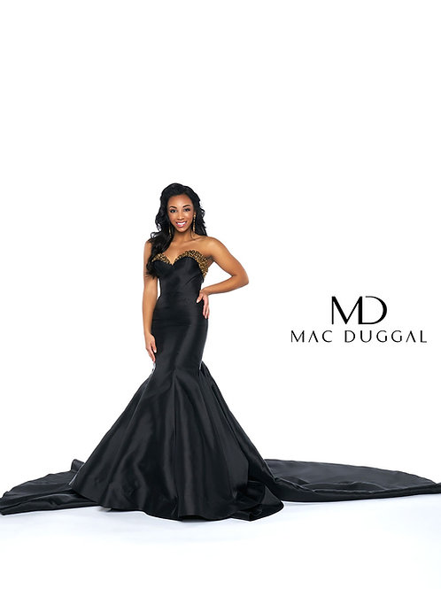 62840 Black Pageant Dress