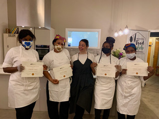 Congratulations to Mercy, Precious, Debora, and Charity, Modena's newest cooks!