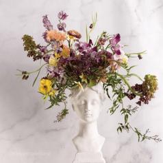 Flower Arrangement with Flower Frog (8).