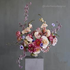 Flower Arrangement with Flower Frog (1).