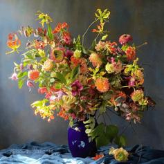 Flower Arrangement with Flower Frog (9).