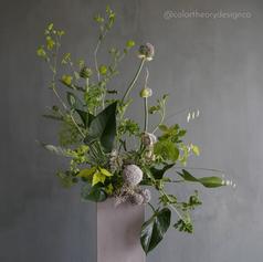 Flower Arrangement with Flower Frog (3).