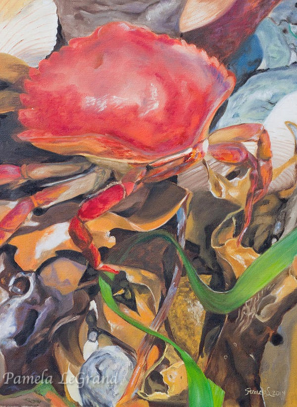 Mr. Crab Blakely Island By Malibu Artist Pamela LeGrand