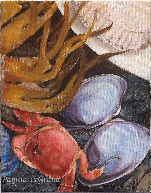 Crab And Clam Beach By Malibu Artist Pamela LeGrand