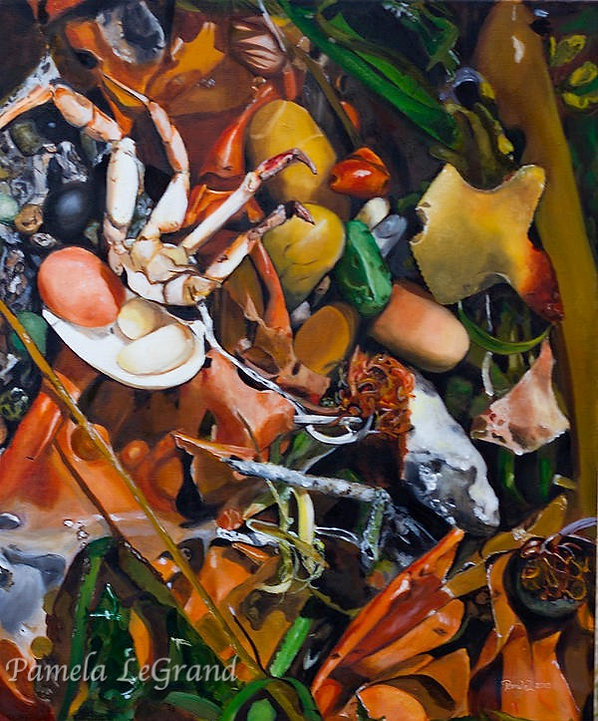 Botanical Beach Life By Malibu Artist Pamela LeGrand