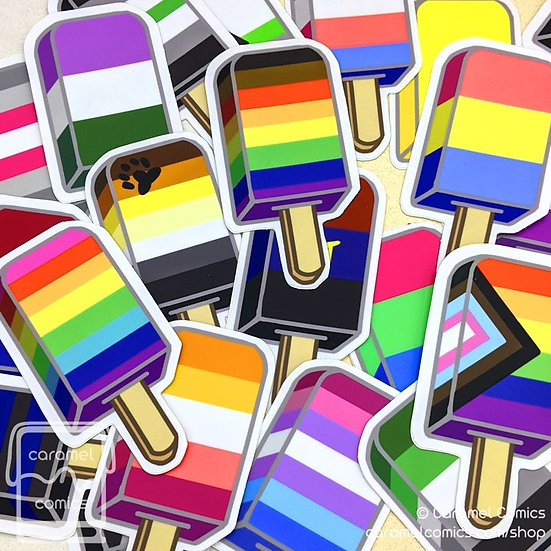 Pride Ice Pop Stickers