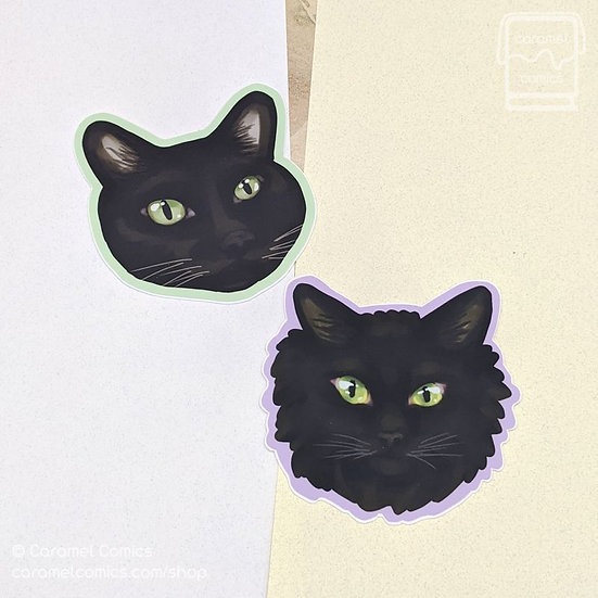 Black Cat Stickers