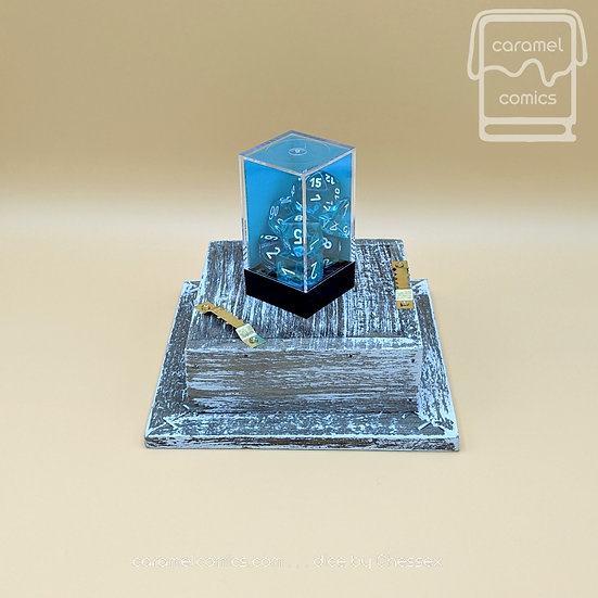 Dice - Translucent Blue with White
