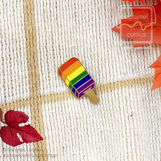 Rainbow Ice Pop Enamel Pin