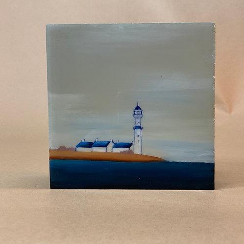 "Péninsule du phare - 5"" x 5"" x 1.5"""