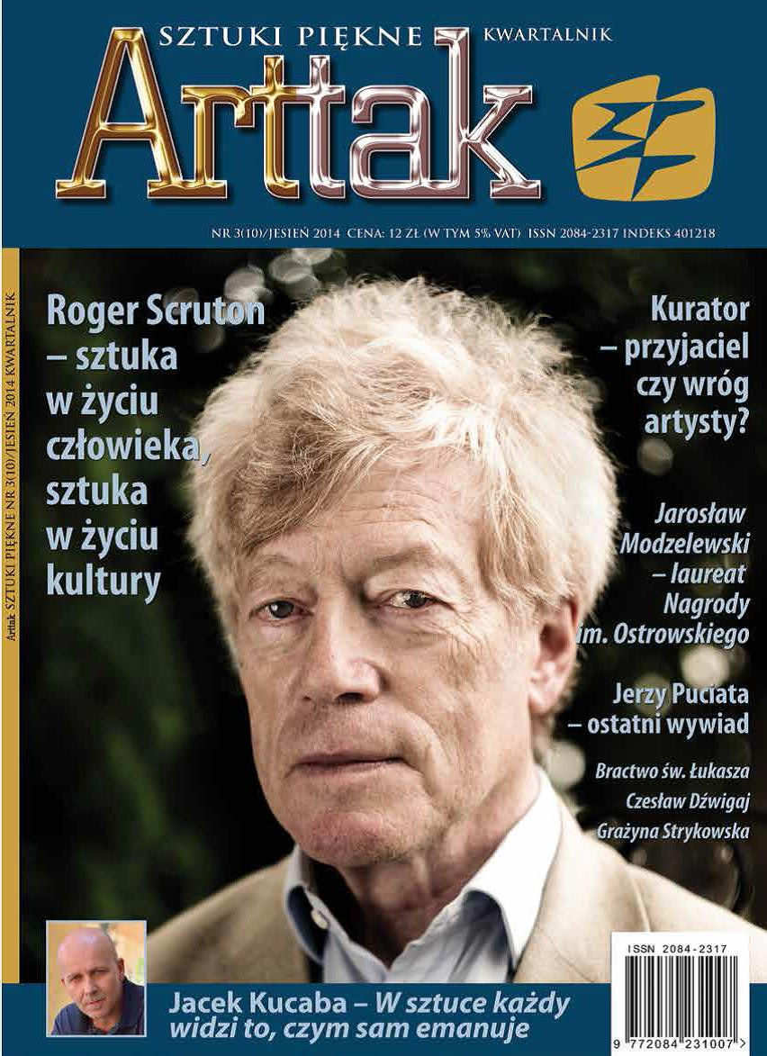 Roger Scruton on the cover of Arttak, Autumn 2014