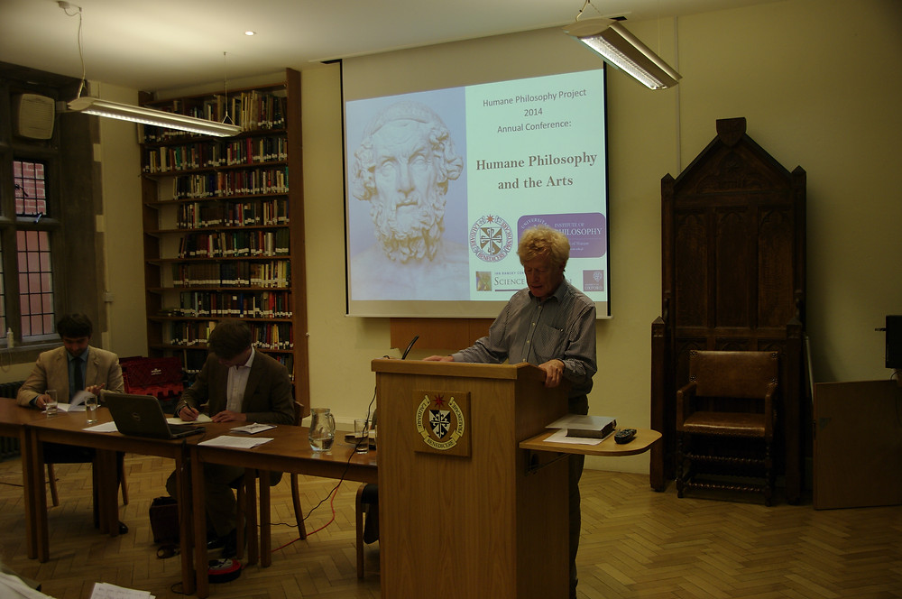 Mikolaj Slawkowski-Rode, Ralph Weir, and Roger Scruton at the 2014 HPP Conference