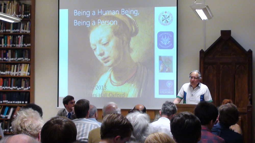 Peter Hacker speaks at the 2013 HPP Conference