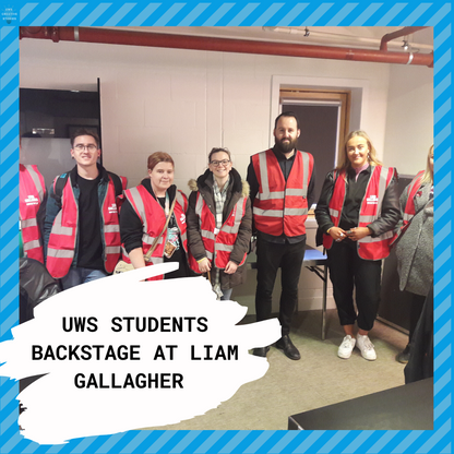 UWS Music Students Backstage At Liam Gallagher