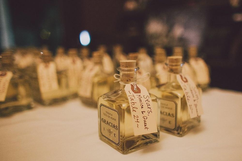 Liquor wedding favor