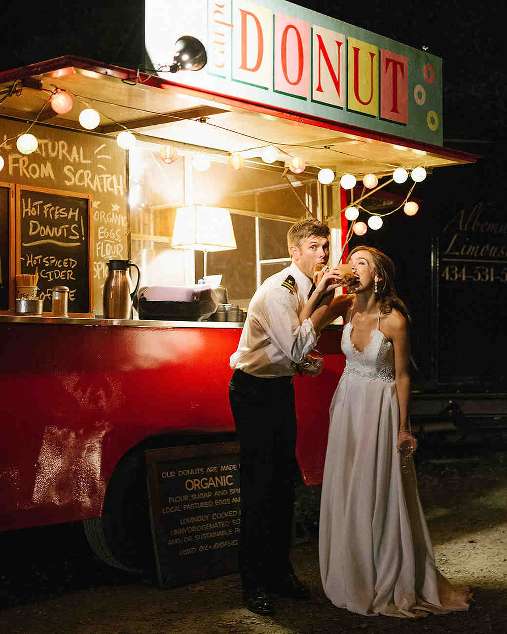 Donut truck at wedding