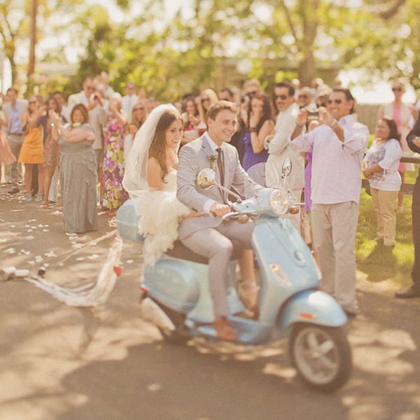 Vintage inspired wedding transportation