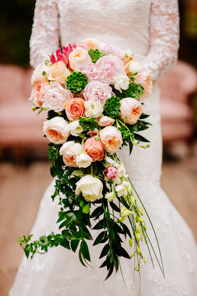 Vintage inspired wedding floral