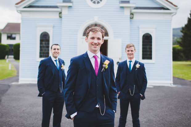Groom with a different colored tie
