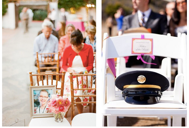 Empty Seat at Wedding Ceremony as Rememberance