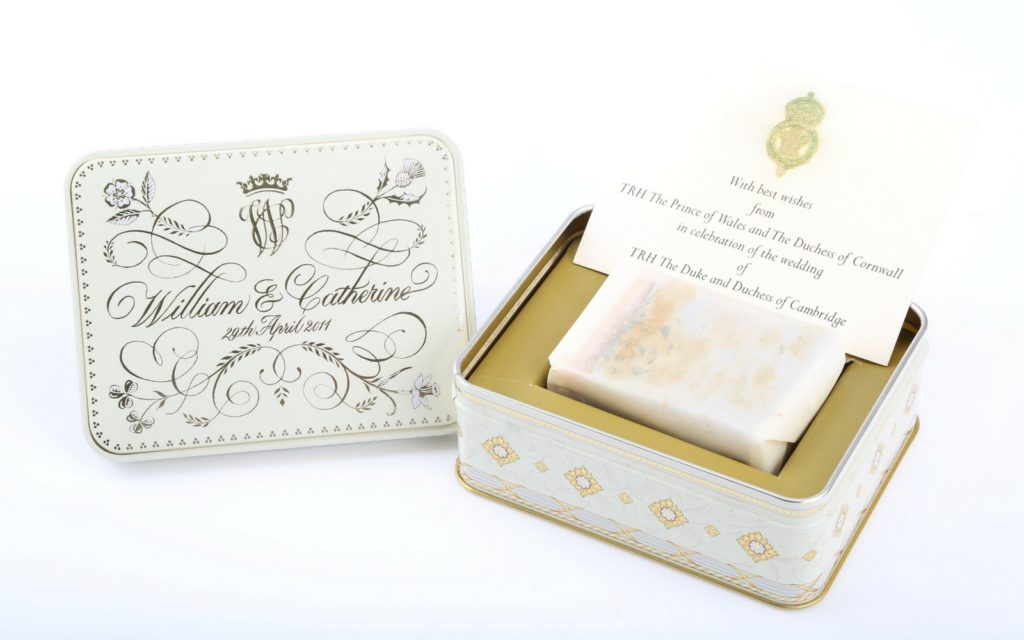 Kate Middleton and Prince William's Wedding Cake going up for auction