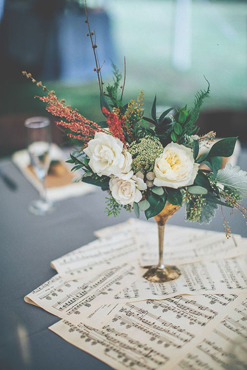 Vintage inspired wedding decor