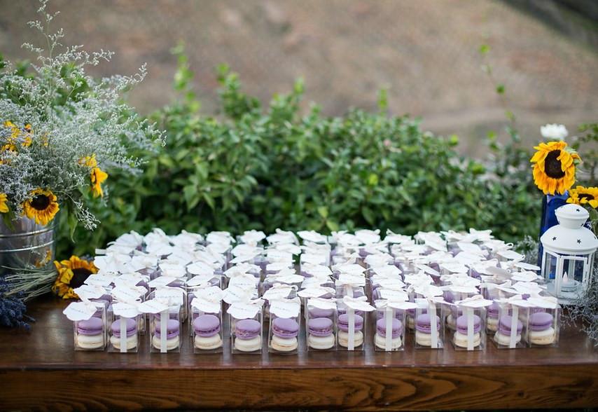 Macarons wedding favor