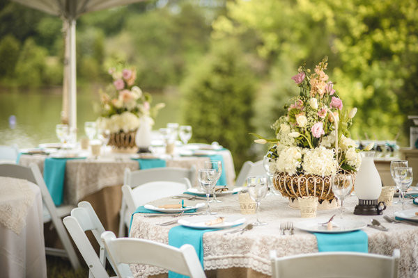 Vintage inspired wedding decor