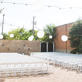Outdoor wedding ceremony in Fort Worth