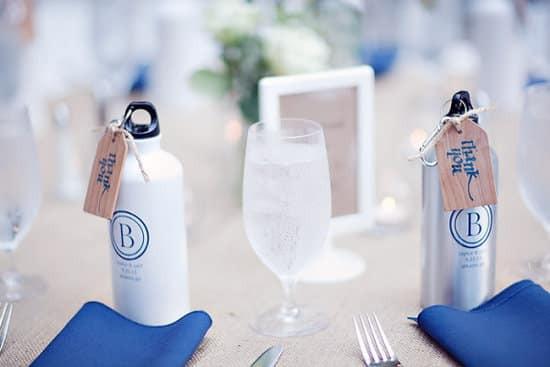 Water bottles wedding favor