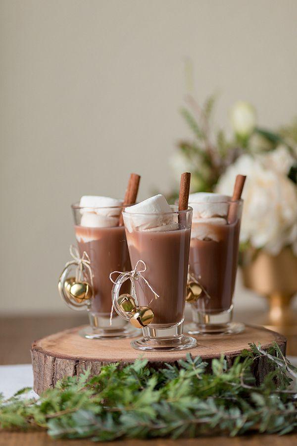 Winter wedding hot chocolate bar