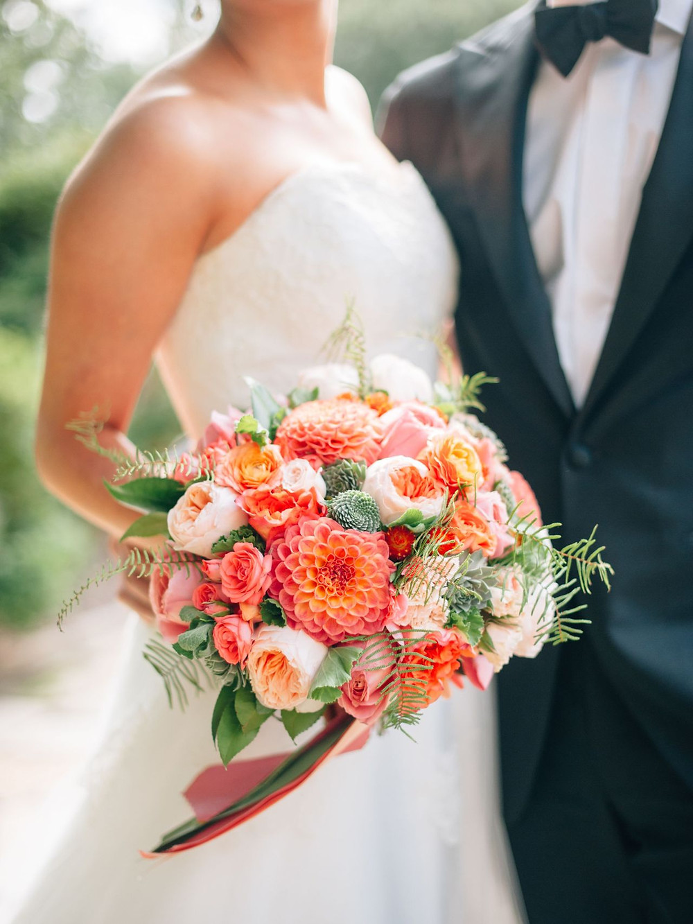 Patone Color of the Year 2019 Living Coral Wedding Bouquet
