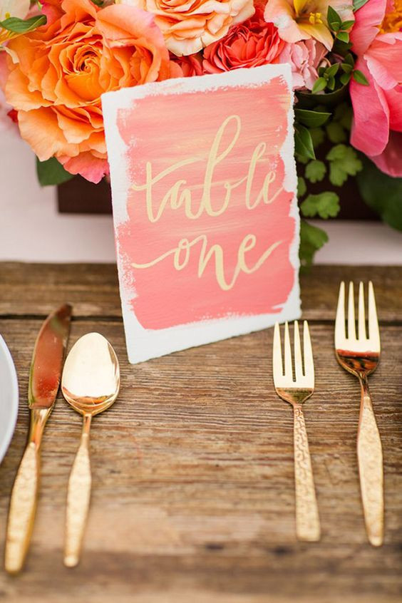 Pantone Color of the Year 2019 Living Coral Wedding Stationery