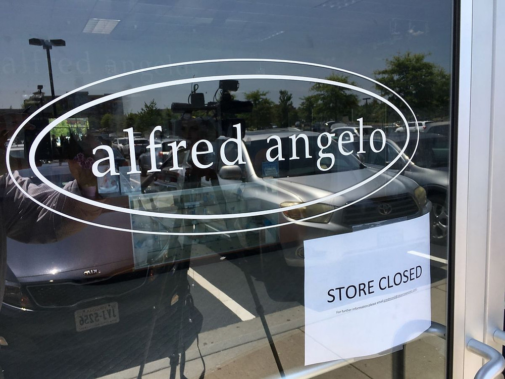 "Alfred Angelo ""store closed"" sign"
